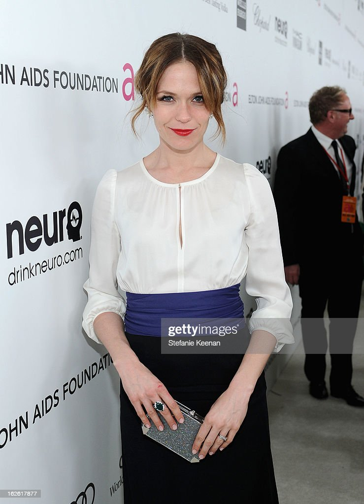 Director Katie Aselton attends Chopard at 21st Annual Elton John AIDS Foundation Academy Awards Viewing Party at West Hollywood Park on February 24, 2013 in West Hollywood, California.
