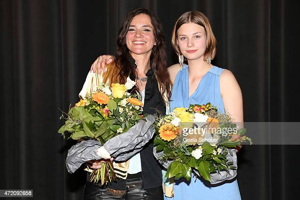 Director Katja von Garnier and Hanna Binke during the German premiere of the film 'Ostwind 2' on May 3 2015 in Munich Germany
