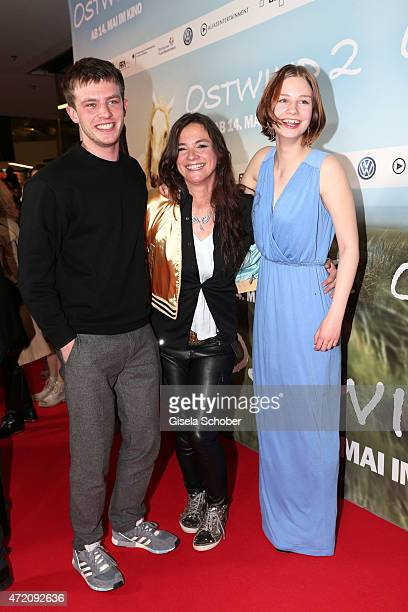 Director Katja von Garnier Jannis Niewoehner Hanna Binke during the German premiere of the film 'Ostwind 2' on May 3 2015 in Munich Germany