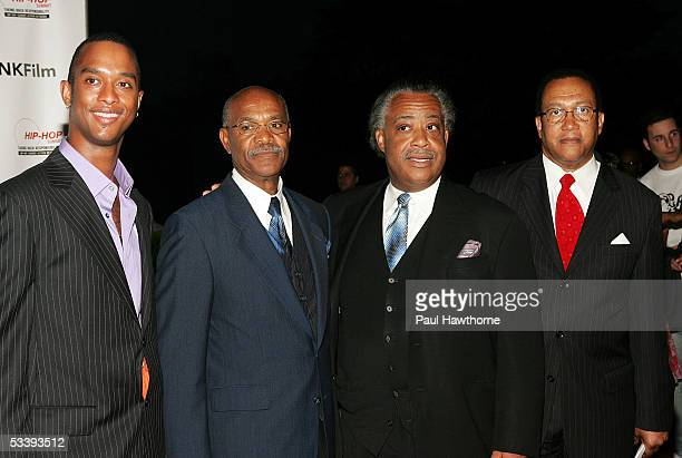 Director Keith Beauchamp Simeon Wright Reverend Al Sharpton and HSAN President and CEO Dr Benjamin Chavis attend The Untold Story of Emmett Louis...