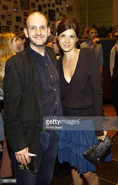 Director Keith Gordon and actress Marisa Tomei attend a party after the premiere of the film The Singing Detective during the Hollywood Film Festival...