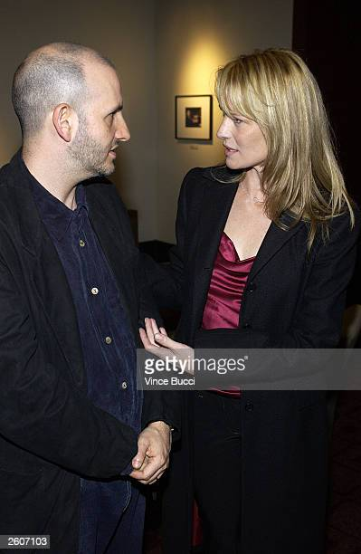 Director Keith Gordon and actress Robin Wright Penn attend the premiere of the film The Singing Detective during the Hollywood Film Festival on...