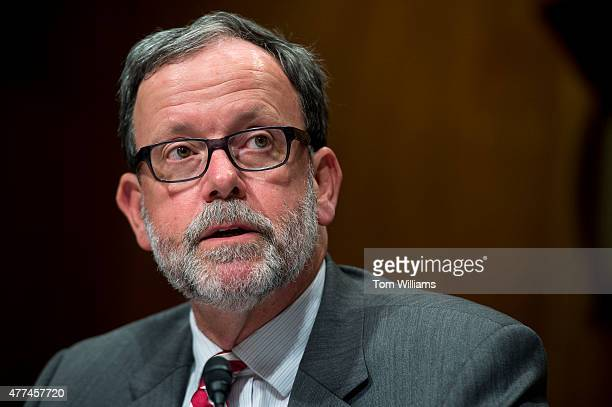 Director Keith Hall testifies during a Senate Budget Committee hearing in Dirksen Building titled 'Congressional Budget Office's Long Term Fiscal...