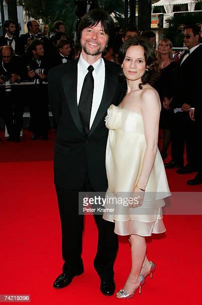 Director Ken Burns and wife Julie Deborah Brown attend a premiere promoting the film Le Scaphandre Et Le Papillon at the Palais des Festivals during...