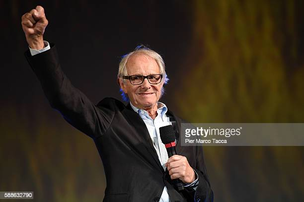 Director Ken Loach attends a photocall during the 69th Locarno Film Festival on August 11 2016 in Locarno Switzerland