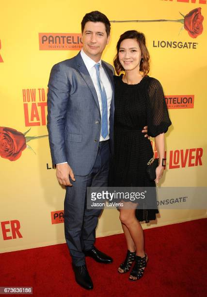 Director Ken Marino and wife Erica Oyama attend the premiere of 'How to Be a Latin Lover' at ArcLight Cinemas Cinerama Dome on April 26 2017 in...