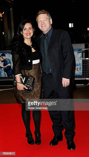"Director Kenneth Branagh and his wife Lindsay Brunnock arrive at the UK premiere of ""The Magic Flute"" at Odeon West End on November 26, 2007 in..."