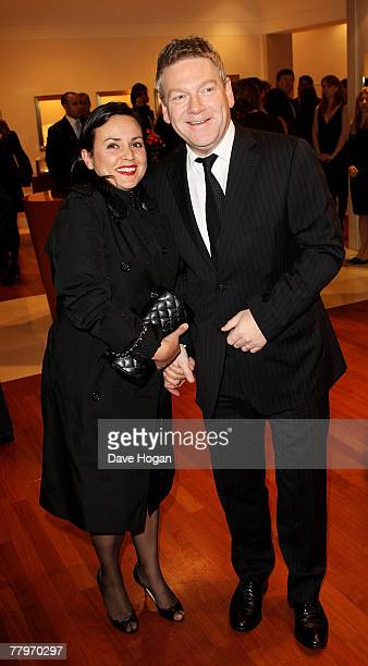 Director Kenneth Branagh and his wife Lindsay Brunnock attend the 'Sleuth' Bulgari Premiere Party at the Bulgari store on New Bond Street on November...