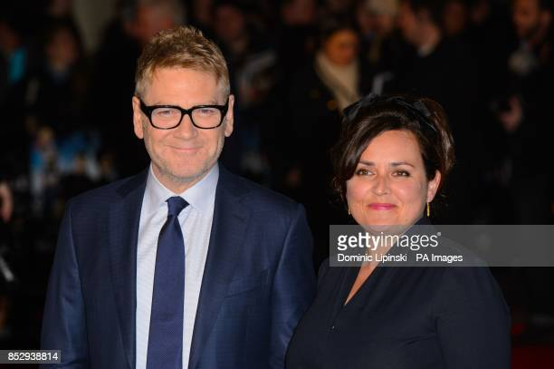 Director Kenneth Branagh and Lindsay Brunnock arrive at the European film premiere for Jack Ryan at the Vue cinema Leicester Square London