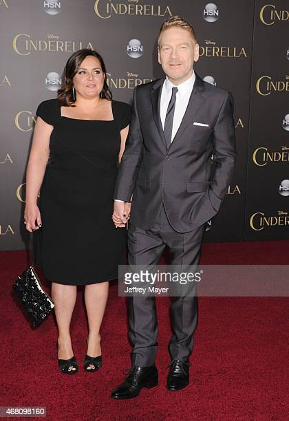 Director Kenneth Branagh and Lindsay Brunnock arrive at the World Premiere of Disney's 'Cinderella' at the El Capitan Theatre on March 1, 2015 in...