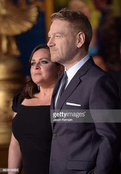 "Director Kenneth Branagh and Lindsay Brunnock attend the premiere of Disney's ""Cinderella"" at the El Capitan Theatre on March 1, 2015 in Hollywood,..."