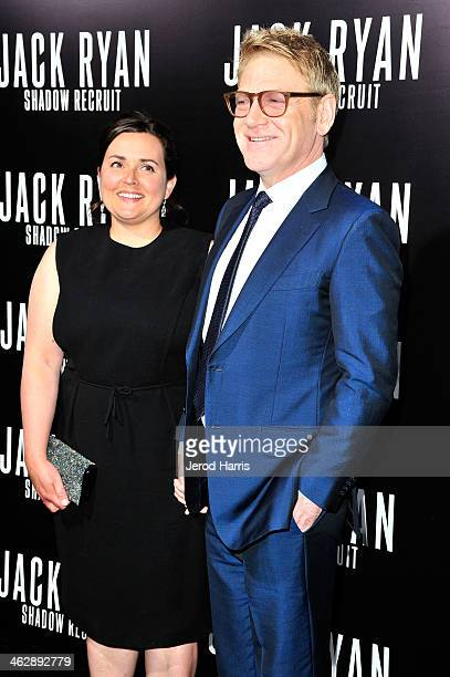 Director Kenneth Branagh and wife Lindsay Brunnock arrive at 'Jack Ryan: Shadow Recruit' - Los Angeles Premiere at TCL Chinese Theatre on January 15,...