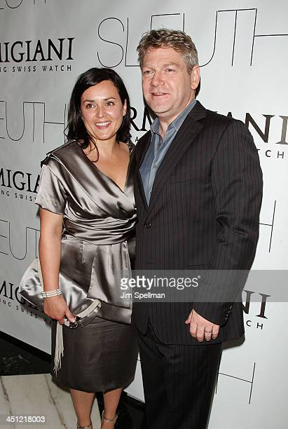 Director Kenneth Branagh and wife Lindsay Brunnock arrive at the Sleuth Premiere at the Paris Theater on October 2 2007 in New York City