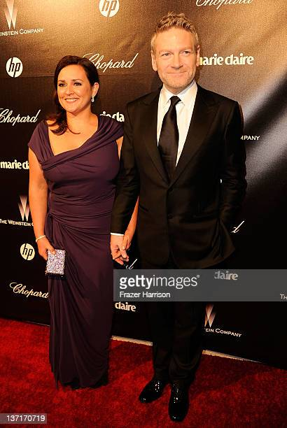 Director Kenneth Branagh and wife Lindsay Brunnock arrive at The Weinstein Company's 2012 Golden Globe Awards After Party at The Beverly Hilton hotel...