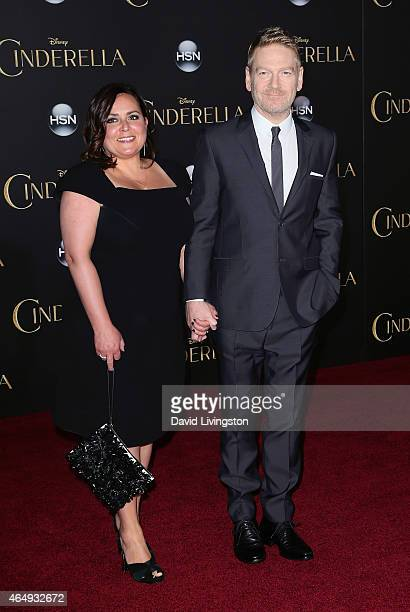 "Director Kenneth Branagh and wife Lindsay Brunnock attend the premiere of Disney's ""Cinderella"" at the El Capitan Theatre on March 1, 2015 in..."