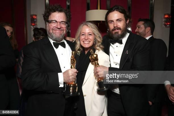 Director Kenneth Lonergan publicist Mara Buxbaum and actor Casey Affleck attend the Amazon Studios Oscar Celebration at Delilah on February 26 2017...