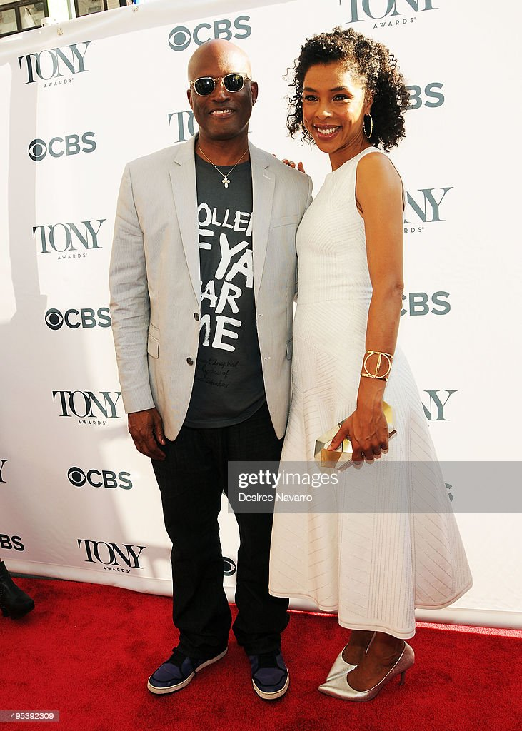Director Kenny Leon and actress Sophie Okonedo attend the 2014 Tony Honors Cocktail Party at Paramount Hotel on June 2, 2014 in New York City.