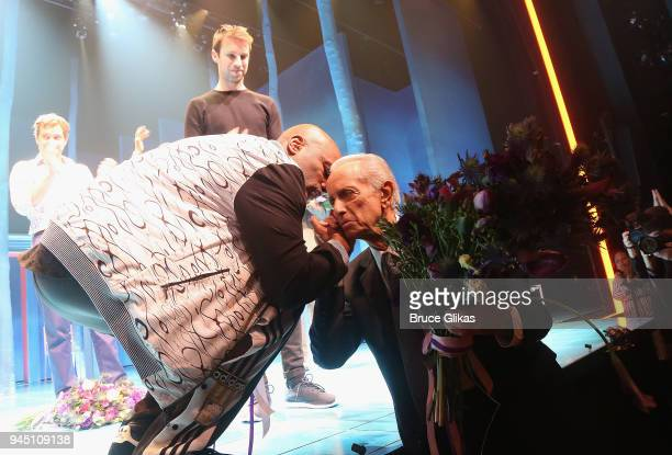 Director Kenny Leon and Playwright Mark Medoff during the opening night curtain call of the revival of the play Children of a Lesser God on Broadway...