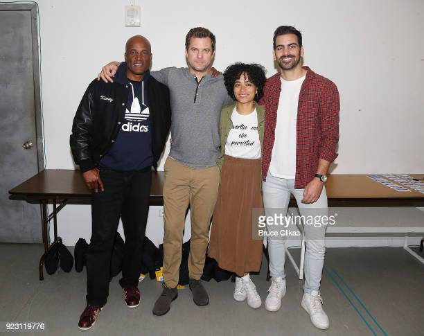 Director Kenny Leon Joshua Jackson Lauren Ridloff and Producer Nyle DiMarco pose at broadway's upcoming revival of 'Children Of A Lesser God' first...