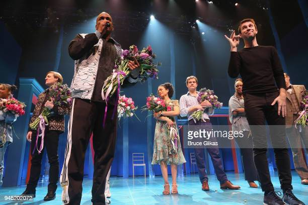Director Kenny Leon Lauren Ridloff and Joshua Jackson and cast during the opening night curtain call of the revival of the play Children of a Lesser...