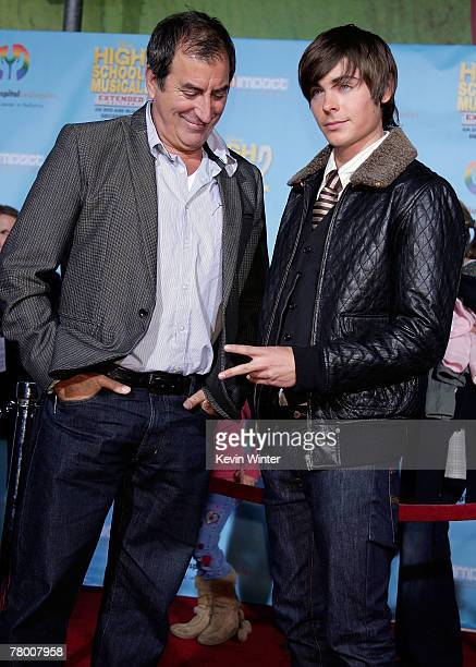 Director Kenny Ortega and actor Zac Efron arrive at the DVD premiere of Disney's High School Musical 2 held at the El Capitan Theatre on November 19...