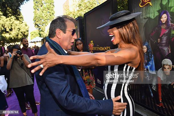 Director Kenny Ortega and actress Wendy Raquel Robinson attend the premiere of Disney Channel's 'Descendants' at Walt Disney Studios on July 24 2015...