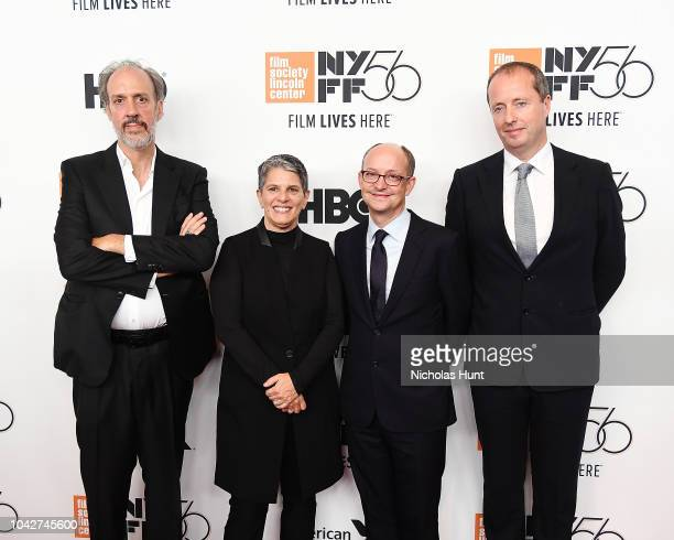 NYFF Director Kent Jones FSLC Executive Director Lesli Klainberg Ed Guiney and Andrew Lowe attend the 56th New York Film Festival Opening Night...