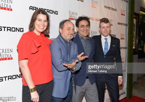 Director Kerry Carlock actors Kevin Pollak and Jason Antoon and director Nick LundUlrich attend the premiere of Screen Media Films' 'Armstrong' at...