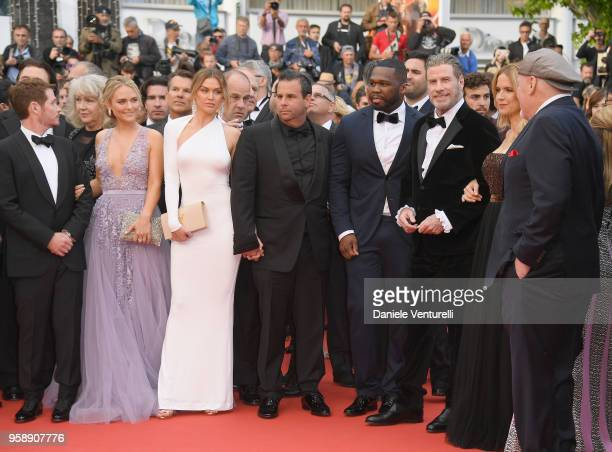 Director Kevin Connolly and 50 Cent John Travolta Kelly Preston Stacy Keach and guests from the film Gotti attend the screening of Solo A Star Wars...