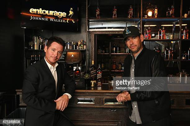 Director Kevin Connolly and writer Doug Ellin attend as Johnnie Walker Entourage debut Johnny for Johnnie with writer Doug Ellin and director Kevin...