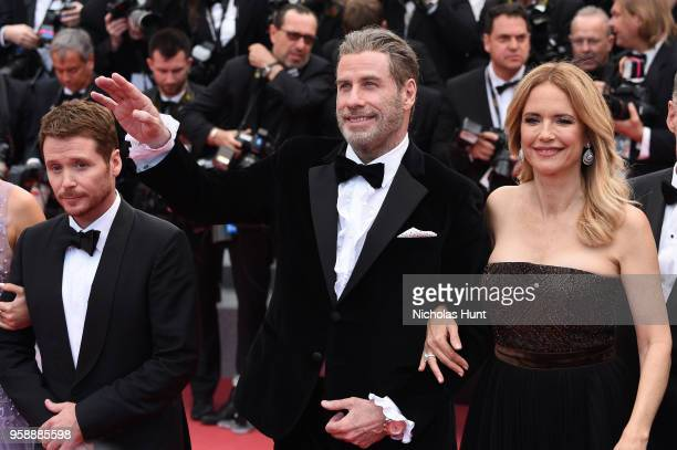 Director Kevin Connolly John Travolta and Kelly Preston attend the screening of Solo A Star Wars Story during the 71st annual Cannes Film Festival at...