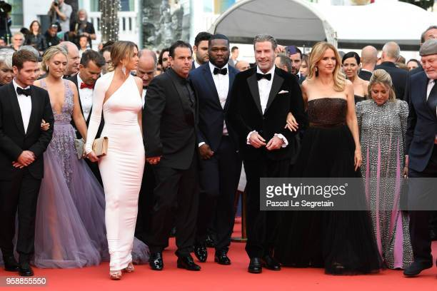 Director Kevin Connolly with Gotti cast John Gotti Jr 50 Cent John Travolta and Kelly Preston attend the red carpet screening of Solo A Star Wars...