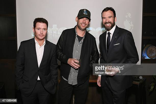 Director Kevin Connolly writer Doug Ellin and Master of Whisky for Johnnie Walker Stephen Wilson speak attend as Johnnie Walker Entourage debut...