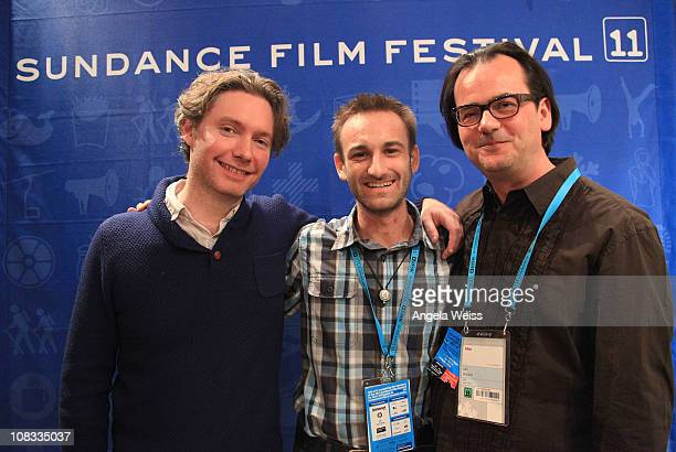 Director Kevin MacDonald Marck Mackovic and Joe Walker attend the YouTube's Life In A Day Gallery Opening on January 25 2011 in Park City Utah