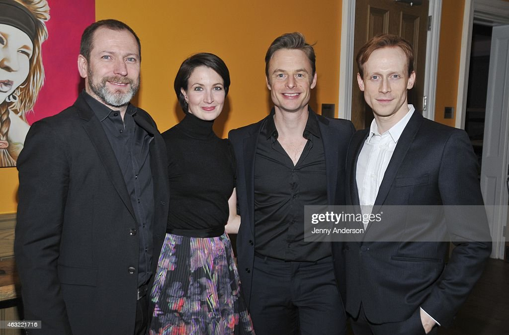 Director Kevin O'Hare, dancers Lauren Cuthbertson and Edward Watson and choreographer Christopher Wheeldon attend The Royal Ballet's 'The Winter Tale' preview reception at Crosby Street Hotel on February 11, 2015 in New York City.