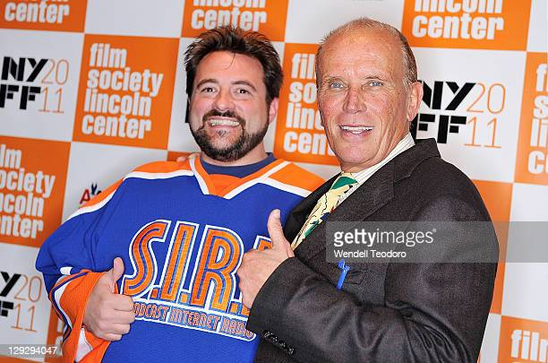 """Director Kevin Smith and actor Peter Weller attends the 49th Annual New York Film Festival screening of """"The Adventures of Buckaroo Banzai Across the..."""