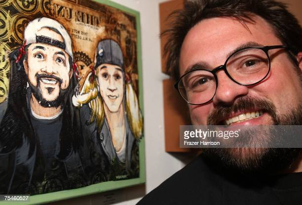 Director Kevin Smith attends the opening night of Crazy 4 Cult a group art show saluting classic cult movies at Gallery 1988 on the 17th July 2007 in...