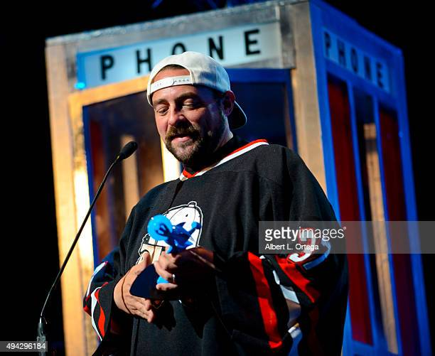 Director Kevin Smith honored on stage with the GEEK Pioneer Award at the 3rd Annual Geekie Awards held at Club Nokia on October 15 2015 in Los...