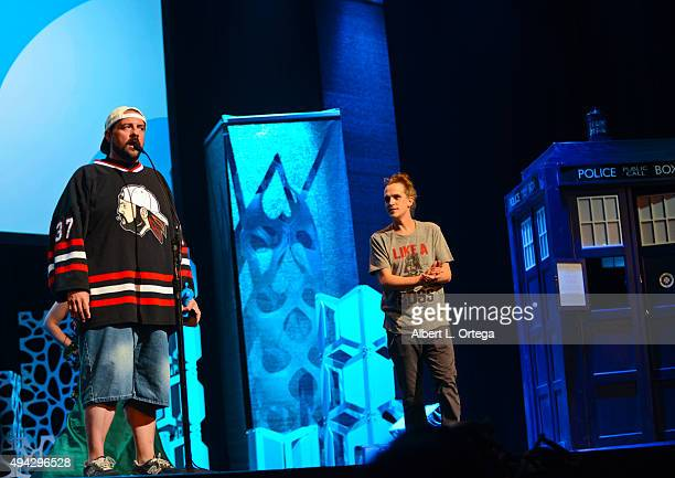 Director Kevin Smith honored on stage with the GEEK Pioneer Award presented by actor Jason Mewes at the 3rd Annual Geekie Awards held at Club Nokia...