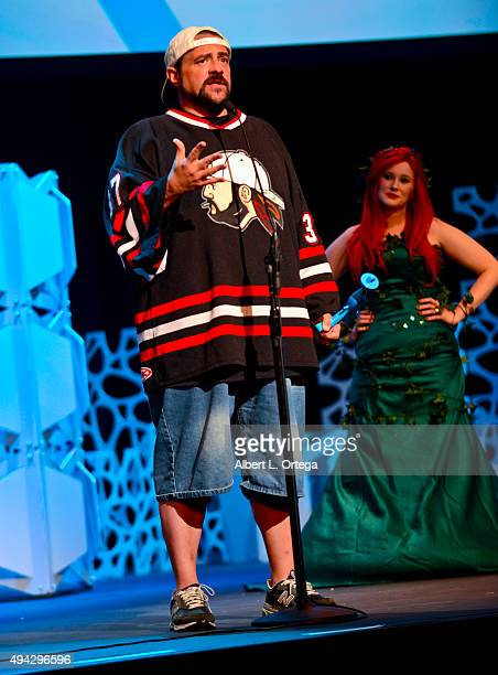 Director Kevin Smith honored with the Pioneer Award at the 3rd Annual Geekie Awards held at Club Nokia on October 15 2015 in Los Angeles California