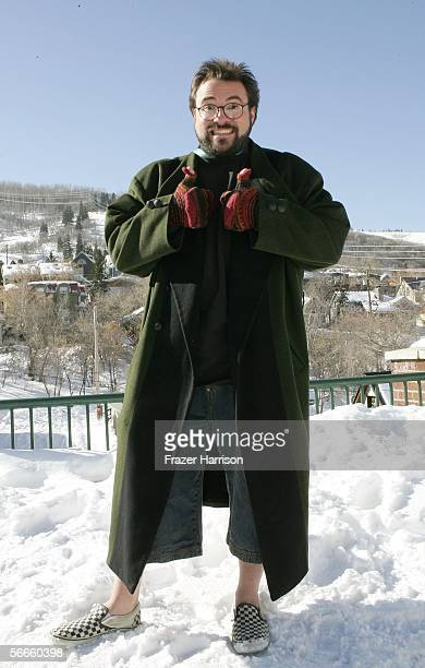 Director Kevin Smith poses for photos on Main Street during the 2006 Sundance Film Festival January 24 2006 in Park City Utah