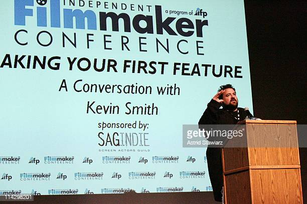 Director Kevin Smith speaks at the opening of IFP's Independent Filmmaker Conference at FIT on September 14, 2008 in New York City.