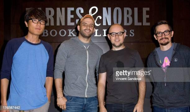 Director Ki Hyun Ryu director Joaquim Dos Santos producer Michael Dante DiMartino and writer Bryan Konietzko attend The Legend of Korra panel...