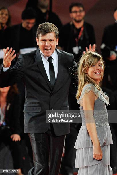 Director Kike Maillo and Claudia Vega attend the Eva premiere during the 68th Venice Film Festival at Palazzo del Cinema on September 7 2011 in...
