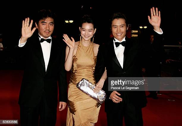 """Director Kim Jee-Woon, actress Min-a Shin and actor Byung-Hun Lee attend a screening of """"Dal Kom Han In-Saeng"""" at the Palais during the 58th..."""