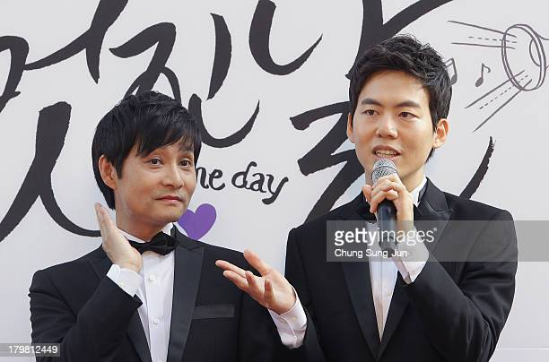 Director Kim Jho KwangSoo and Kim SeungHwan speak before their wedding as the first samesex couple to get married in South Korea at the...