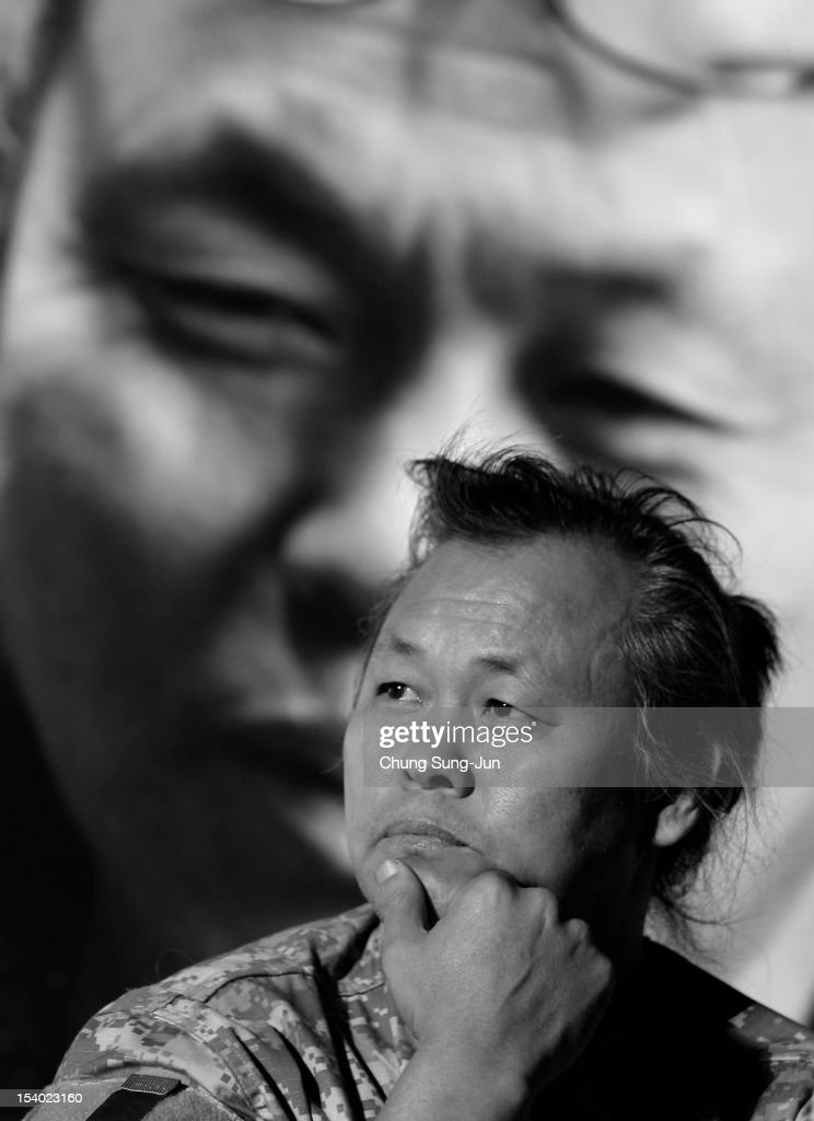 Director Kim Ki-duk attends Open Talk during the 17th Busan International Film Festival (BIFF) at Haeundae beach on October 12, 2012 in Busan, South Korea. The biggest film festival in Asia showcases 304 films from 75 countries and runs from October 4-13.