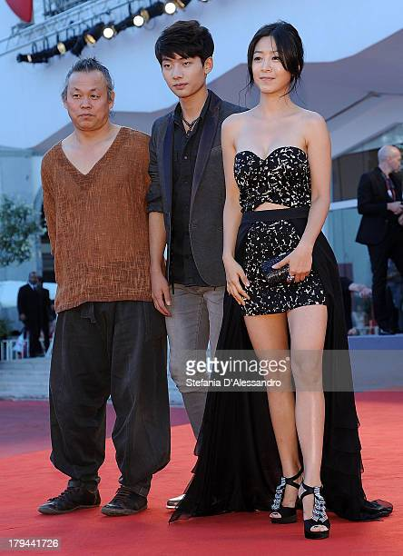 Director Kim KiDuk Seo Youngju and Lee Eunwoo attend 'Moebius' Premiere during the 70th Venice International Film Festival at Palazzo del Casino on...