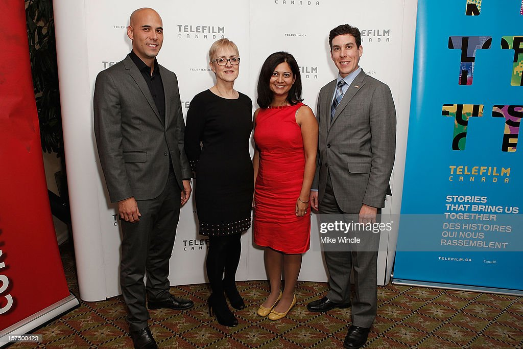 Director Kim Nguyen, Carole Brabant, Rashma Agarwal and Frederic Tremblay attend Tribeca Film and Telefilm Canada host a special screening for Kim Nguyen's WAR WITCH Official Entry for the 85th Academy Awards - Foreign Language on December 3, 2012 in Los Angeles, California.
