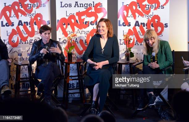 Director Kimberly Peirce, executive producer Geena Davis and director Catherine Hardwicke speak at a Q&A session at a screening of Donahue's...